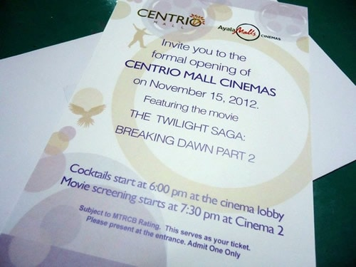 Centrio Mall Cinema